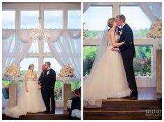 Wedding Ceremony at Milestone Krum Wedding by brittanybarclay.com