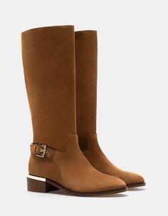 9bd3c1cb7a0 At Stradivarius you ll find 1 Bota hebilla PIEL for woman for just 1519  MXN… Zapatos De ModaTipos ...