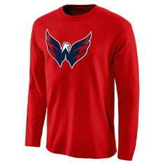 Washington Capitals Rinkside Fan Big Logo Long Sleeve T-Shirt - Red