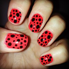 Black dots on coral. Because why wouldn't you?