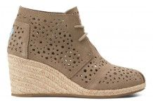 Taupe Moroccan Cutout Women's Desert Wedges