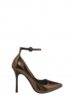 DITA MIRROR LEATHER HEEL by Alice + Olivia