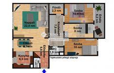 Eladó szombathelyi lakások   Ingatlankereső   Duna House Floor Plans, House, Home, Homes, Floor Plan Drawing, Houses, House Floor Plans