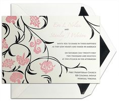 Perennial Blossom Letterpress #Wedding #Invitation