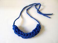 DIY | Chunky Finger Knit Necklace
