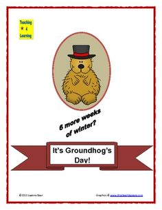 This Groundhog's Day theme unit is completely adorable and your students will think so, too!  This 20-page unit will keep little ones busy on Febru...