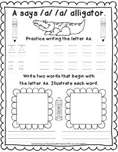 ASSESSMENT: This acts a sample which can be used to assess students progress and development of their physical writing skills by the formation of letters both capital and non capital.