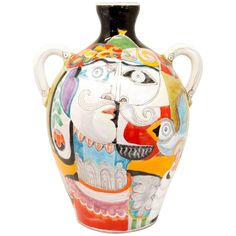 Vintage Italian Vase by DeSimone   From a unique collection of antique and modern vases and vessels at https://www.1stdibs.com/furniture/decorative-objects/vases-vessels/