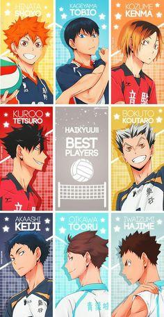 My favourite haikyuu players