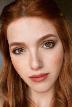 39 ideas wedding makeup redhead red heads for 2019 Source by midnightmoonlite Hair makeup redheads Wedding Makeup Redhead, Redhead Makeup, Wedding Makeup For Brown Eyes, Best Wedding Makeup, Natural Wedding Makeup, Natural Makeup, Makeup For Redheads, Redheads With Brown Eyes, Red Hair Brown Eyes