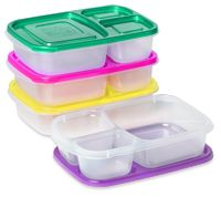 EasyLunchboxes Bento Lunch Box Containers (Set of BPA-Free. Easy-Open Lids (Not Leakproof) Japanese Bento Lunch Box, Bento Box Lunch, Lunch Snacks, Box Lunches, Bento Food, Healthy Lunches, Healthy Foods, 3 Compartment Food Containers, Lunch Box Containers