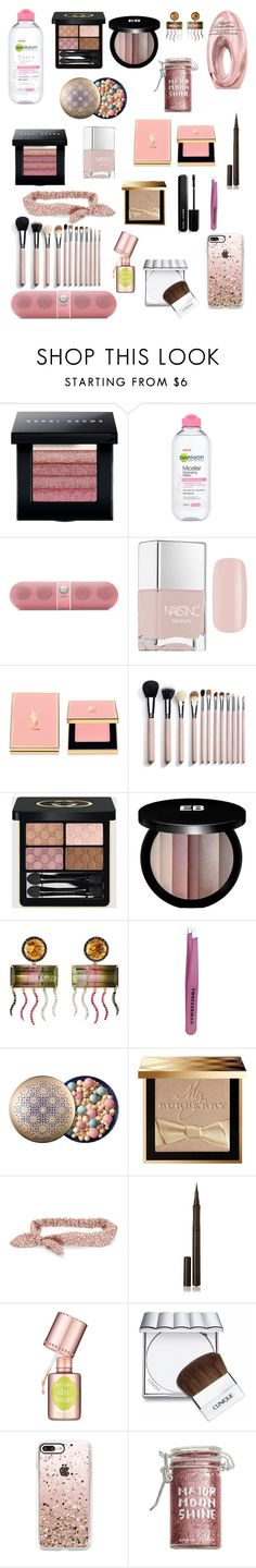 """""""NYE"""" by stacy-hardy ❤ liked on Polyvore featuring beauty, Bobbi Brown Cosmetics, Agent Provocateur, Garnier, Beats by Dr. Dre, Nails Inc., Yves Saint Laurent, Gucci, Edward Bess and Sharon Khazzam"""