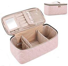 Amazon.com : Makeup Bag, BAGSMART Large Cosmetic Bag Travel Toiletry Bag Travel Makeup Case Organizer for Women, Soft Pink : Beauty & Personal Care