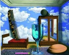 CurkovicArtUnits / My Surrealist Room.  Combines 1 & 2 point perspective with study of surrealism!