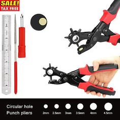 Hand Tools Humble Revolving Watch Leather Strap Band Belt Hollow Hole Stamp Puncher Punch Plier