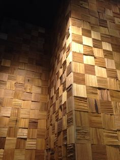 WoodCube is created from natural wood and exquisitely hand-cut into 95mm square piece. Each piece of WoodCube carries infinite vitality. Through unique state-of-the-art nano technology, it possesses unique Far-Infrared Ray and anti-microbial function to give you a healthy and comfortable lifestyle. #Wormy #Chestnut. #Wall #Decoration