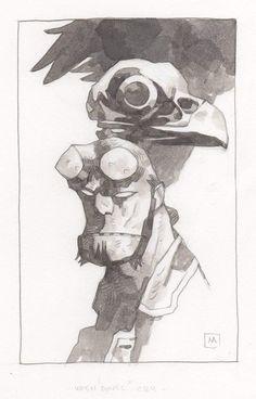 Comic Book Artists, Comic Books Art, Comic Art, Mike Mignola Art, Dark Comics, Horror Picture Show, Universe Art, Star Wars Poster, Character Design Inspiration