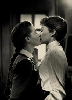 From Maedchen in Uniform (1958). lesbians, vintage, drag king, women's history, belle epoque, erotica, love, woman, women, girls, photography, feminism, gay rights movement pride, LGBT, equality, 1900, 1910, 1920, 1930, 1940, 1950