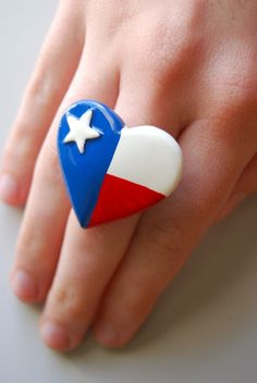 deep in the heart of Texas ring by alliterations on Etsy, $7.00