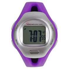 Strapless heart rate monitor with a back-lit LCD display, watch, and calendar. Pots Heart, Heart Conditions, Cool Gear, Fitness Watch, Heart Rate Monitor, Shopping Spree, Signature Style, No Equipment Workout, My Favorite Color