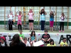 """Grade 4/5 Orff Club performing African folk song """"Funga Alafia."""" Partial arrangement from """"Orff We Go"""" by Cristi Miller and Kathlyn Reynolds."""