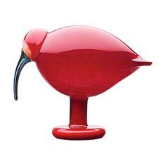 Birds by Toikka: Ibis 165 x 205 mm red for Iittala. Available at Iittala.com