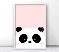 Panda Print Digital Download Nursery Print Baby Girl Nursery
