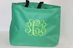 personalized tote www.southerncharmembroidery.com