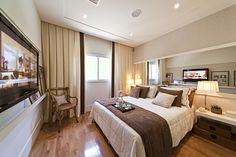 Jogo de cama. Quarto empreendimento Auge Home Resort #SP / Auge Home Resort Bedroom