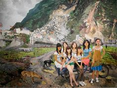 2010 GETTING OUT OF BEICHUAN, artist Liu Xiaodong (b1963; Jincheng Town, Liaoning Province). He now holds tenure as a professor in the painting department at CAFA.