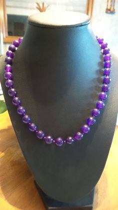 Amethyst faceted bead necklace. by FierStaarGems on Etsy
