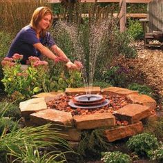 DIY: Build a Soothing Fountain Inexpensive, simple to build and a great place for the neighborhood birds to freshen up—that's my kind of fountain!