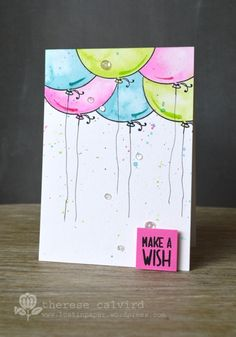 Video : Finding Inspiration By Request - Watercoloured Balloons!