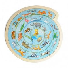 Puzzle animaux, rond
