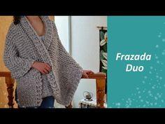 Cómo tejer una frazada estambre gigante COUNTRY - tejido fácil y rápido con agujas ESTAMBRES KARINA - YouTube