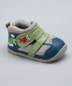 Take a look at this Navy Flying High Sneaker by MOMO Baby on #zulily today!