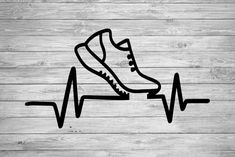 Pulse Run SVGpngdxfepssilhouettecricutrunnerscross Arte Marilyn Monroe, Runner Tattoo, Shoe Store Design, Freundin Tattoos, Running Silhouette, Iphone Wallpaper Video, Bike Tattoos, Book Folding Patterns, Chalk Art