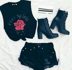 Cute Outfits For Teen Girls Teenage Outfits, Teen Fashion Outfits, Edgy Outfits, Mode Outfits, Grunge Outfits, Outfits For Teens, Girl Outfits, Summer Outfits, Womens Fashion