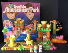 eBay | Vintage Kenner AMUSEMENT PARK Playset 100% Box Tree Tot Figures! Tree House GM