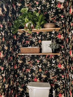 How to add storage over the toilet with simple DIY shelving Over Toilet Storage, Shelves Above Toilet, Simple Diy, Easy Diy, Painting Laminate Cabinets, Faux Marble Countertop, Diy Shelving, How To Hang Wallpaper, Toilet Room