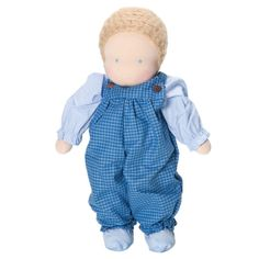 Classic Waldorf Boy Doll - Light Skin, Blonde Hair
