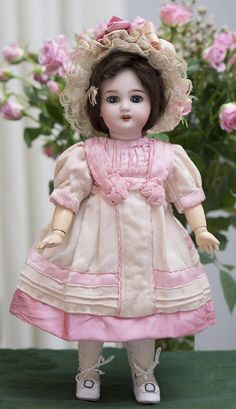 "12 1/2"" (32 cm.) Antique French Bisque Bebe DEP Jumeau/SFBJ,c. 1900 from respectfulbear on Ruby Lane"