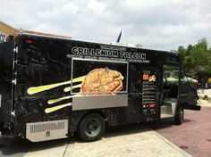 """The Greatest Food Truck Ever? / The name, at least, seems pretty impossible to beat. The Grillenium Falcon is being run by the owners of Hammontree's Take Home Gourmet, a restaurant specializing in made from scratch soups, gourmet grilled cheese sandwiches and hot dogs. Their menu features movie themed names for the grilled cheese sandwiches, including a Cheebaca, which is white cheddar and their """"house cheese"""" with bacon, pulled pork, grilled onions and garlic cilantro sauce on sourdough."""