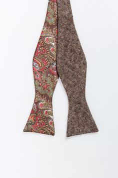 EDGE by WD.NY Reversible Tweed with Paisley Bow Tie