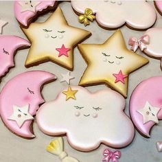 Moon and Stars Art Cookies