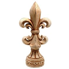 20-inch Antiqued Fleur-de-lis Statue | Overstock.com Shopping - Great Deals on KINDWER Statues & Sculptures