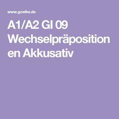 A1/A2 GI 09 Wechselpräpositionen Akkusativ