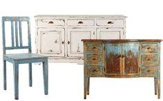 Shabby Chic Möbel mit Kreidefarbe streichen