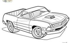 Cool Car Colouring Picture
