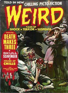 Retrospace: Cover Gallery Horror Comics Part Two: Eerie Publications Vintage Comic Books, Vintage Comics, Comic Books Art, Comic Art, Vintage Stuff, Sci Fi Comics, Horror Comics, Creepy Comics, Horror Posters